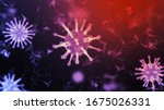 3d rendering wireframe virus... | Shutterstock . vector #1675026331