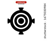 aiming icon or logo isolated... | Shutterstock .eps vector #1675030984