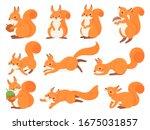 Cartoon Squirrel. Cute...