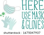 """""""use mask"""" sign. typography.... 