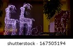 festive reindeer decorated with ... | Shutterstock . vector #167505194