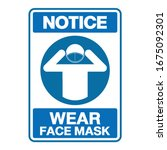 notice safety sign  wear dust... | Shutterstock .eps vector #1675092301