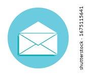 open envelope badge icon....