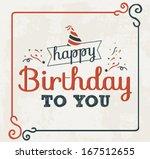happy birthday vector... | Shutterstock .eps vector #167512655