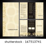 vintage style brochure template ... | Shutterstock .eps vector #167513741