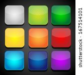 set of color apps icons  ... | Shutterstock .eps vector #167514101