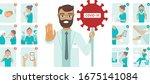 coronavirus covid 19 protection ...   Shutterstock .eps vector #1675141084
