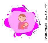 baby  mother cartoon liquid...