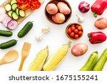 fresh vegetables still life.... | Shutterstock . vector #1675155241
