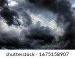 Dark And Dramatic Storm Clouds...