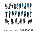 silhouettes of business people. | Shutterstock .eps vector #167516057