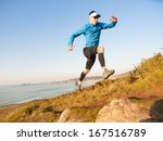 man practicing trail running... | Shutterstock . vector #167516789