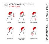 symptoms coronavirus covid 19.... | Shutterstock .eps vector #1675171414
