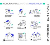 prevention coronavirus covid 19.... | Shutterstock .eps vector #1675171417