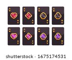 black and gold playing cards... | Shutterstock .eps vector #1675174531