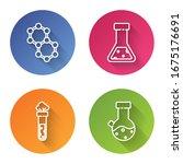set line molecule  test tube... | Shutterstock .eps vector #1675176691