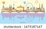 panoramic berlin skyline travel ... | Shutterstock .eps vector #1675187167