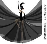 white background and dancing... | Shutterstock .eps vector #167519879