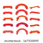different retro style ribbons... | Shutterstock .eps vector #167520095