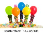 five persons in toy style at a... | Shutterstock . vector #167520131