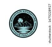 mountain adventure night view... | Shutterstock .eps vector #1675228927