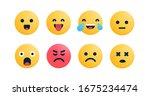 set of emoji characters vector... | Shutterstock .eps vector #1675234474
