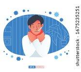 flu sickness by corona virus... | Shutterstock .eps vector #1675235251