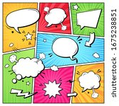 comic books dialog bubbles.... | Shutterstock . vector #1675238851