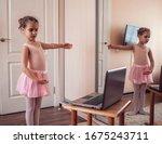 Pretty young ballerina...