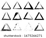 triangular stamps collection.... | Shutterstock .eps vector #1675266271