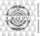 creepy realistic grey emblem... | Shutterstock .eps vector #1675272451