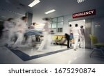 Blurry Movement Of Nurses And...