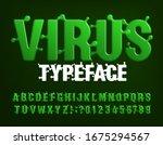 virus alphabet font. green... | Shutterstock .eps vector #1675294567