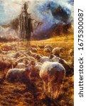 Jesus The Good Shepherd  Wood...