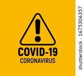 coronavirus warning and... | Shutterstock . vector #1675306357