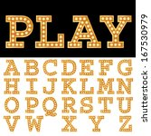 vector alphabet with bulbs. | Shutterstock .eps vector #167530979