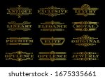 golden premium quality label... | Shutterstock .eps vector #1675335661