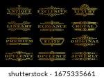 golden premium quality label... | Shutterstock .eps vector #1675335661