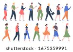 walking people. business men... | Shutterstock . vector #1675359991