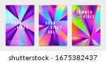 abstract gradient poster and...   Shutterstock .eps vector #1675382437