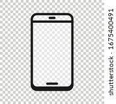 smartphone blank screen icon in ...