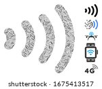 hatch mosaic based on wireless... | Shutterstock .eps vector #1675413517
