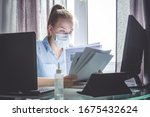 coronavirus. quarantine. online ... | Shutterstock . vector #1675432624