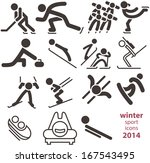 winter sport icons 2014 | Shutterstock .eps vector #167543495