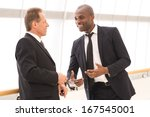business communication. two... | Shutterstock . vector #167545001