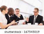 business meeting. business... | Shutterstock . vector #167545019