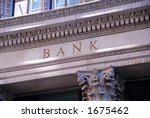 Old Building With Letters Bank...