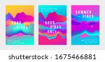 abstract gradient poster and...   Shutterstock .eps vector #1675466881