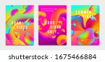abstract gradient poster and...   Shutterstock .eps vector #1675466884