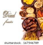 Dried Fruits On White...